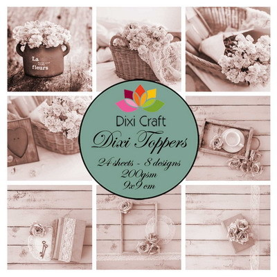 Dixi Craft - Paperpack - Shabby Chic: sepia - ET0324