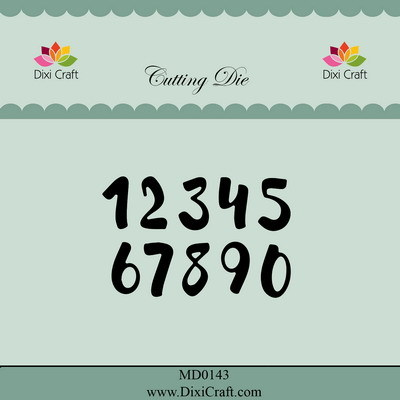 Dixi Craft - Die - Brush numbers (small) - MD0143