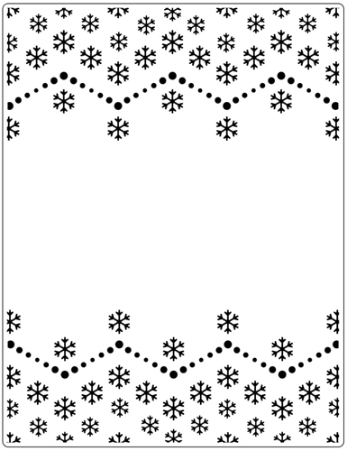 Crafts Too  Embossing Folder SNOWFLAKE 146 X 190mm CTFD3115