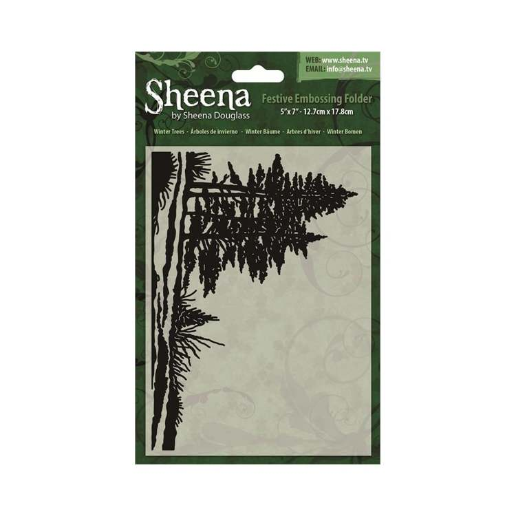 Sheena Douglass - Embossingfolder - Winter Trees - SD-XEF-WTREE