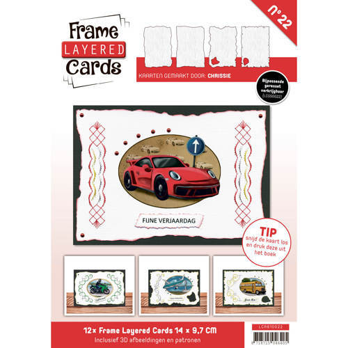 Card Deco - Frame Layered Cards - Book A6 - No. 22 - LCA610022