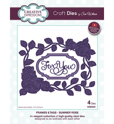 Creative Expressions - Die - The Frames & Tags Collection - Summer Rose - CED4341