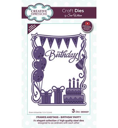 Creative Expressions - Die - The Frames & Tags Collection - Birthday Party - CED4337