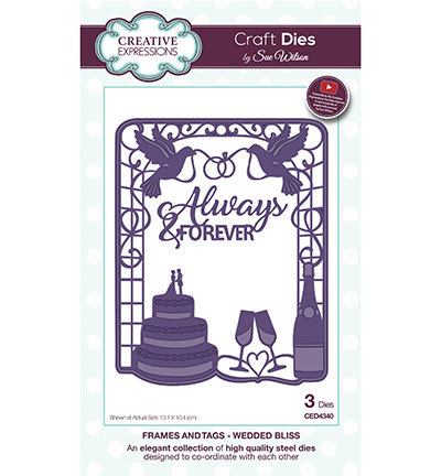 Creative Expressions - Die - The Frames & Tags Collection - Wedded Bliss - CED4340