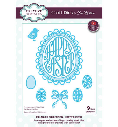 Creative Expressions - Die - The Fillables Collection - Happy Easter - CED21017