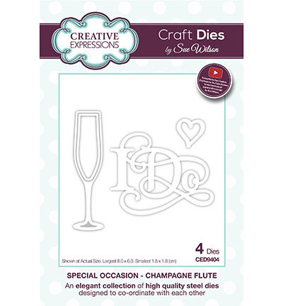 Creative Expressions - Die - The Special Occasion Collection - Champagne Flute - CED9404