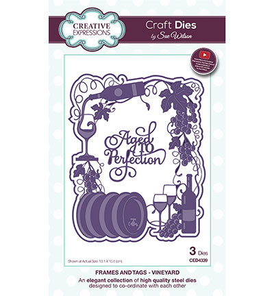 Creative Expressions - Die - The Frames & Tags Collection - Vineyard - CED4339