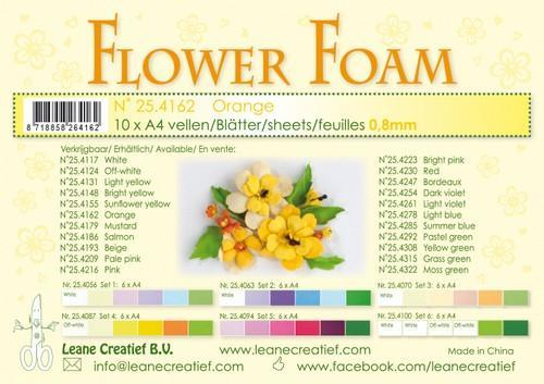 Leane Creatief - Flower Foam: Orange - 25.4162