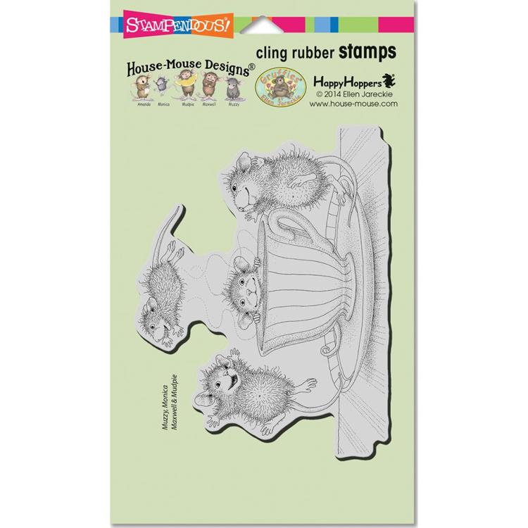 Stampendous - Cling Stamp - House Mouse - Coffee Crazy - HMCR99