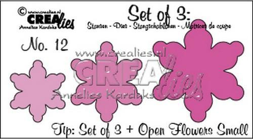 Crealies - Die - Set of 3 - Flowers - No. 12 - CLSetno. 12