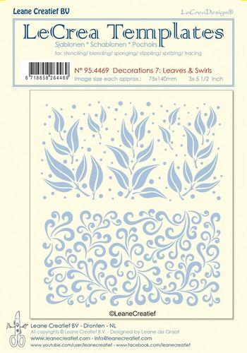 LeCreaDesign - Maskingstencil - Decorations 7 - Leaves & Swirls - 95.4469