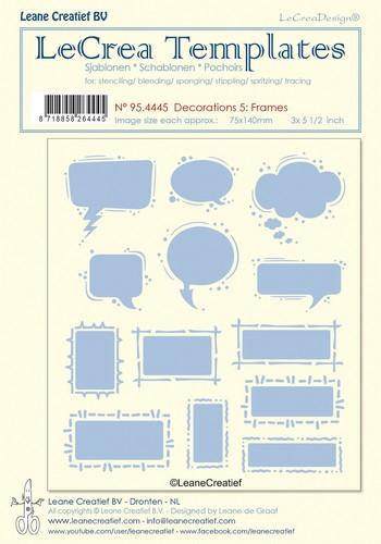 LeCreaDesign - Maskingstencil - Decorations 5 - Frames - 95.4445