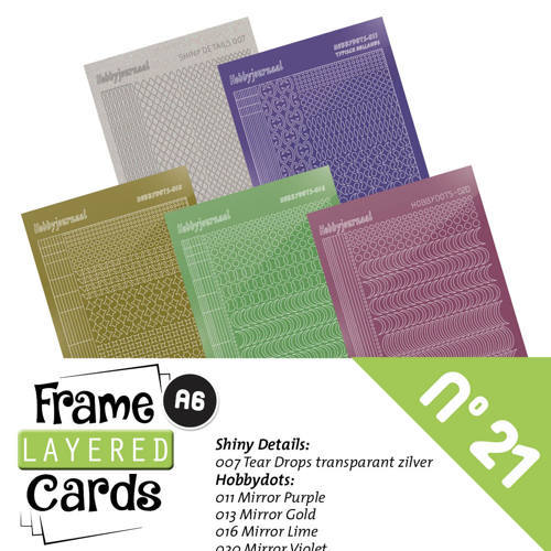 Hobbyjournaal - Stickerset - Frame Layered Cards - No. 21 - LCST021