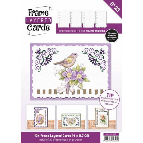 Card Deco - Frame Layered Cards - Book A6 - No. 23 - LCA610023