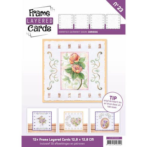 Card Deco - Frame Layered Cards - Book 4K - No. 23 - LC4K10023
