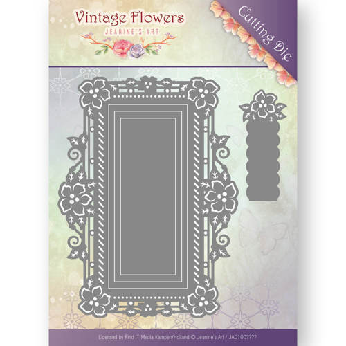 Jeanine`s Art - Die - Vintage Flowers - Floral Rectangle - JAD10035