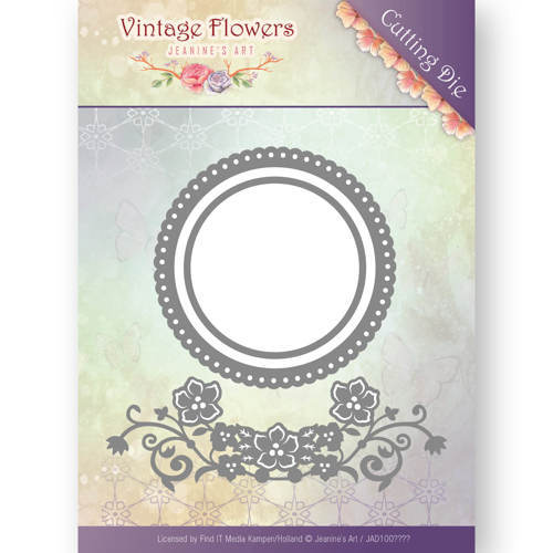 Jeanine`s Art - Die - Vintage Flowers - Flowers and Circles - JAD10034