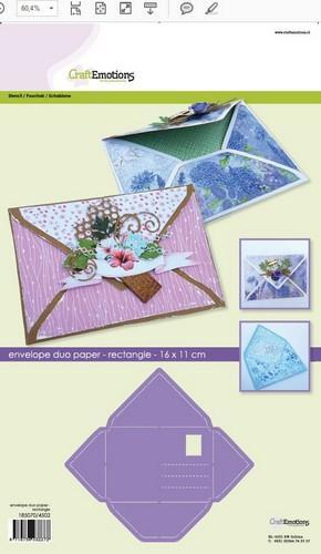 CraftEmotions - Envelope Art - Envelope Duo Paper - Rectangle - 185070/4502