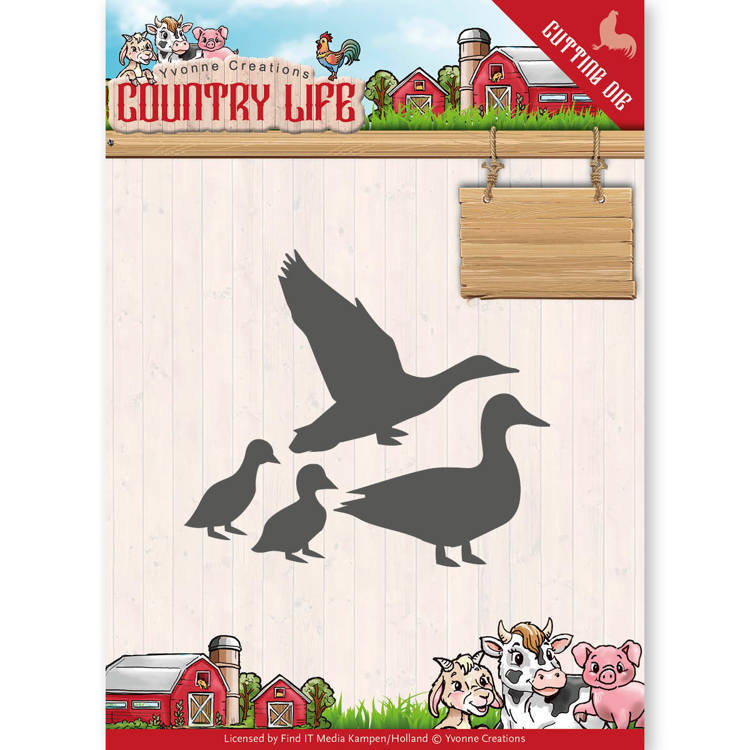 Yvonne Creations - Die - Country Life  - Ducks - YCD10126