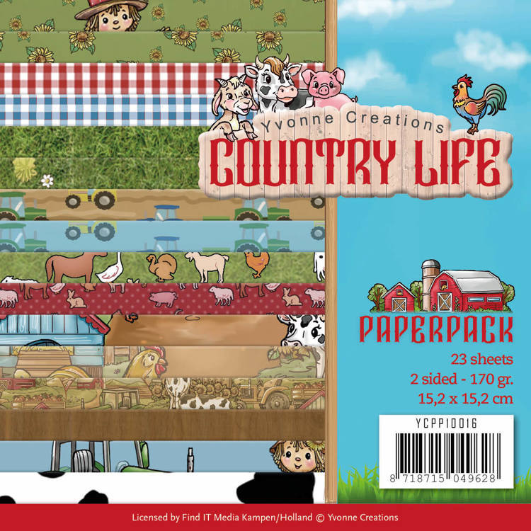 Yvonne Creations - Paperpack -  Country Life - YCPP10016