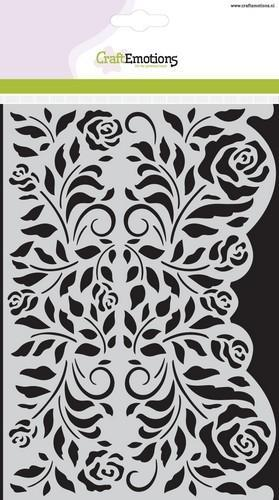 CraftEmotions - Maskingstencil - Rozen Ornament rand - 185070/1112