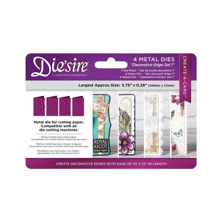 Die`sire - Die - Create-A-Card - Decorative Edge set 1 - DS-CAD-EDGE1