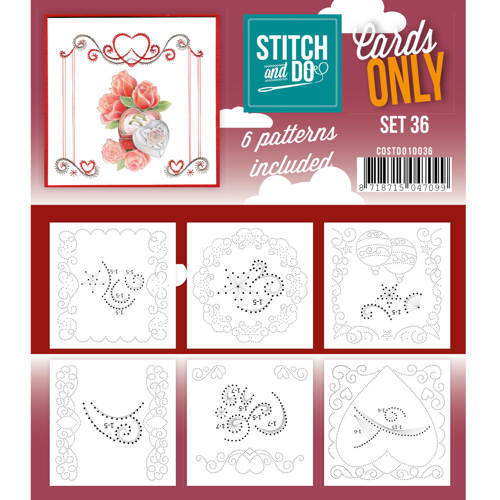 Card Deco - Stitch & Do - Oplegkaarten - Cards only - Set 36 - COSTDO10036