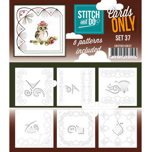 Card Deco - Stitch & Do - Oplegkaarten - Cards only - Set 37 - COSTDO10037