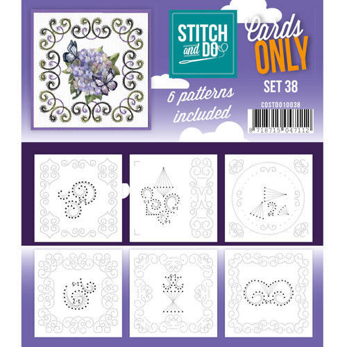 Card Deco - Stitch & Do - Oplegkaarten - Cards only - Set 38 - COSTDO10038