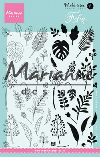Marianne Design - Karin Joan - Clearstamp - Folia - KJ1723