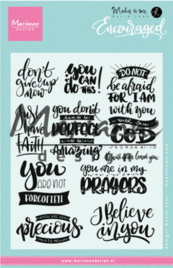 Marianne Design - Karin Joan - Clearstamp - Encouraged - KJ1724