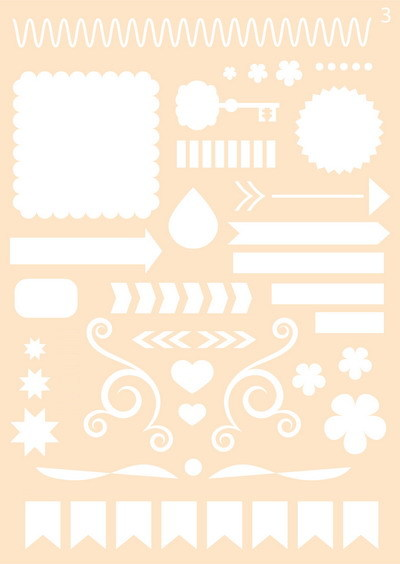 Joy! crafts - Maskingstencil - Journaling nr. 03 - 6002/0859