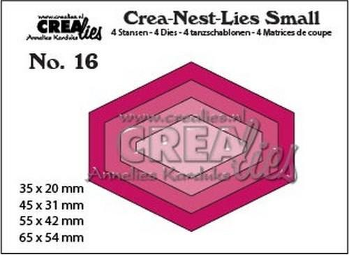 Crealies - Die - Crea-Nest-Lies Small - Platte zeshoek - CNLS16