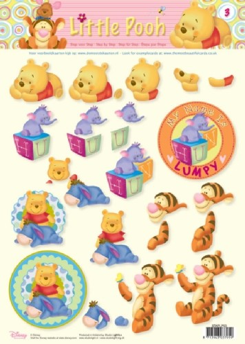 Studio Light - Disney - 3D-knipvel A4 - Little Pooh - STAPLP03
