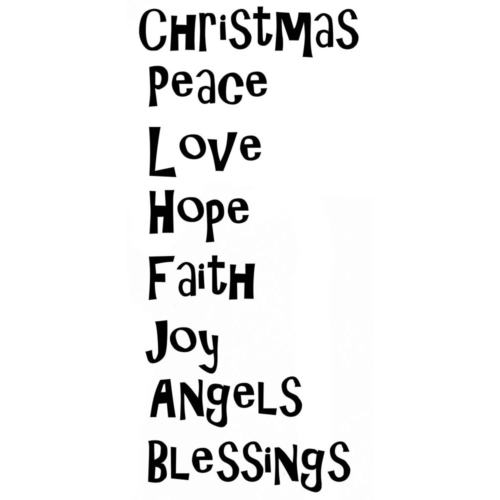 Lavinia Stamps - Clearstamp - Christmas Blessings - LAV421