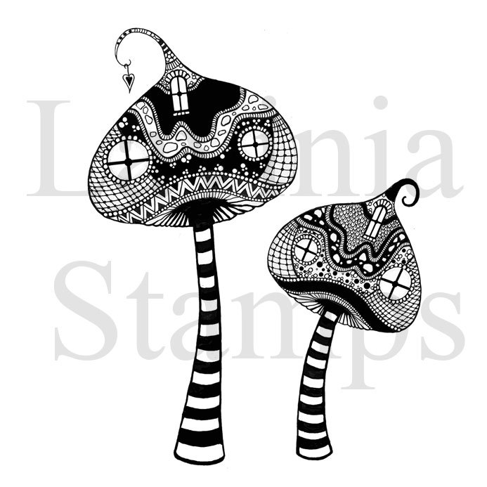 Lavinia Stamps - Clearstamp - Zen Tall Mushrooms - LAV317