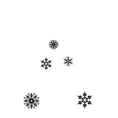 Lavinia Stamps - Clearstamp - Snowflakes - LAV206