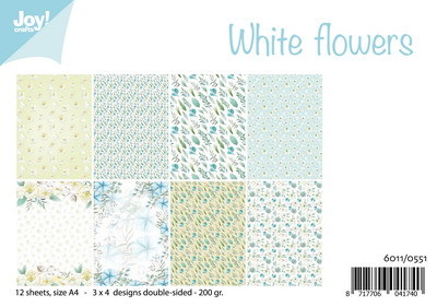 Joy! crafts - Paperset - White flowers - 6011/0551