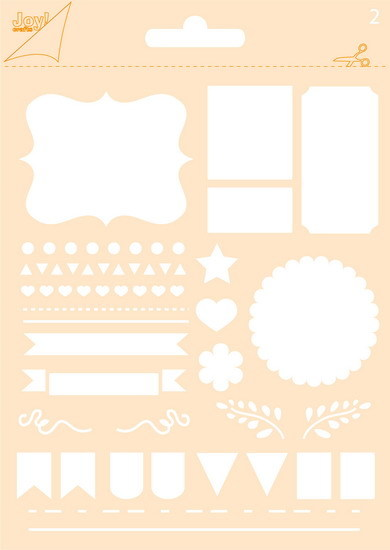 Joy! crafts - Noor! Design - Maskingstencil - Journaling Flags - 6002/0854