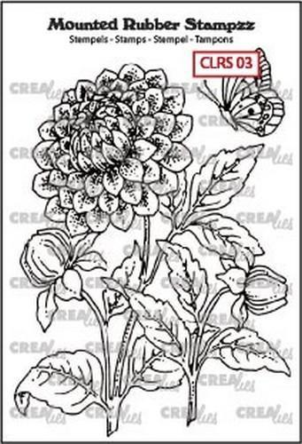 Crealies - Cling Stamp - Dahlia - CLRS03
