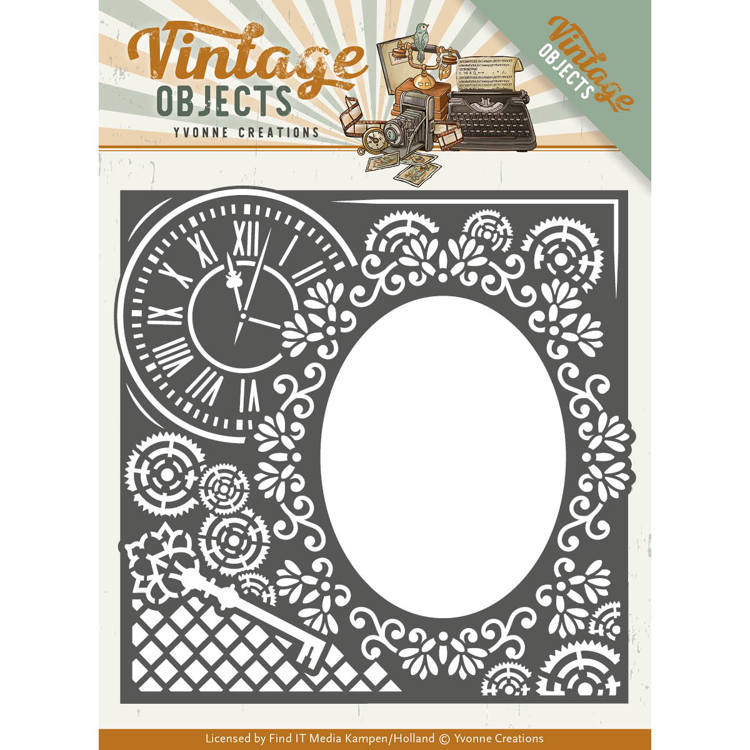 Yvonne Creations - Die - Vintage Objects - Endless Times Frame - YCD10132