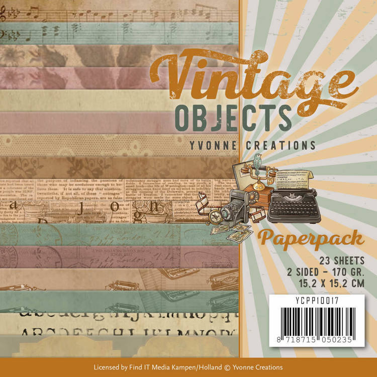 Yvonne Creations - Paperpack - Vintage Objects - YCPP10017