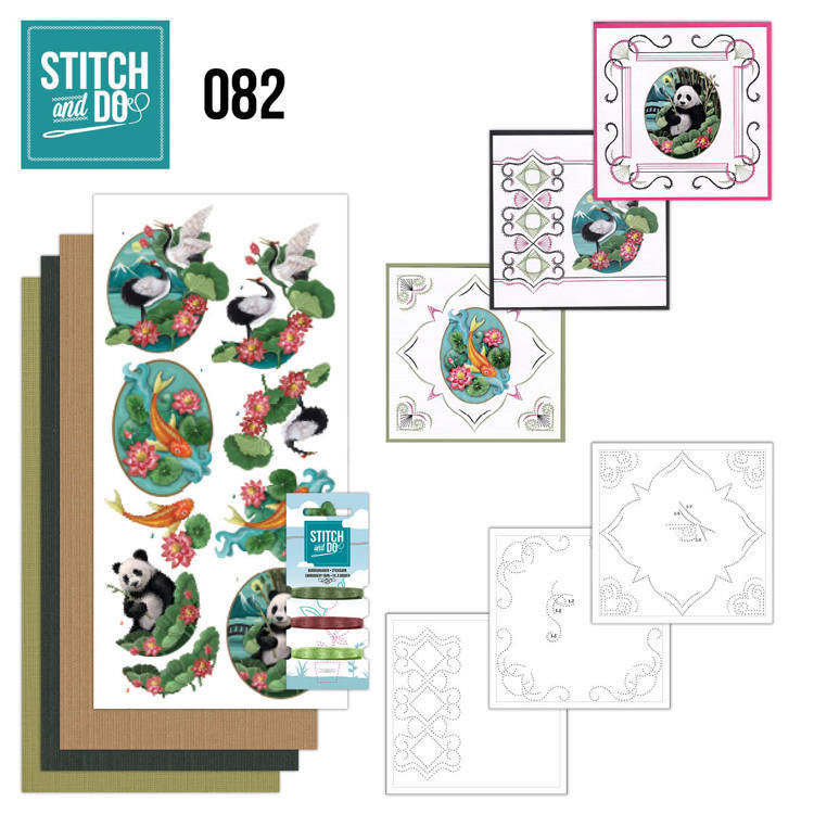 Card Deco - Kaartenpakket - Stitch & Do No. 82 - Oriental - STDO082
