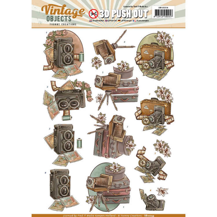 Yvonne Creations - (3D-)Stansvel A4 - Vintage Objects - Vintage Cameras - SB10254