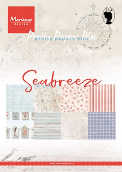 Marianne Design - Paperpack - Pretty Papers - Seabreeze - PK9156
