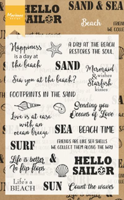Marianne Design - Clearstamp - Beach sentiments - CS1007
