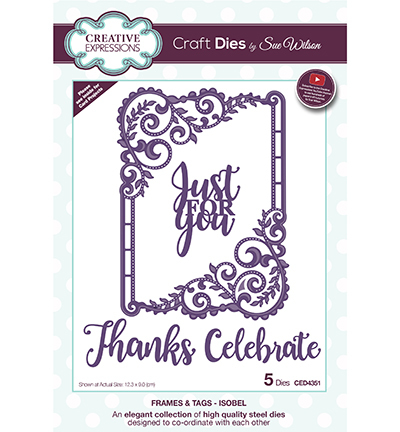 Creative Expressions - Die - Frames & Tags - Isobel - CED4351