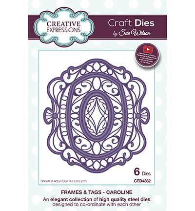 Creative Expressions - Die - Frames & Tags - Caroline - CED4352