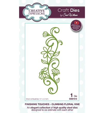 Creative Expressions - Die - The Finishing Touches Collection - Climbing Floral Vine - CED1515