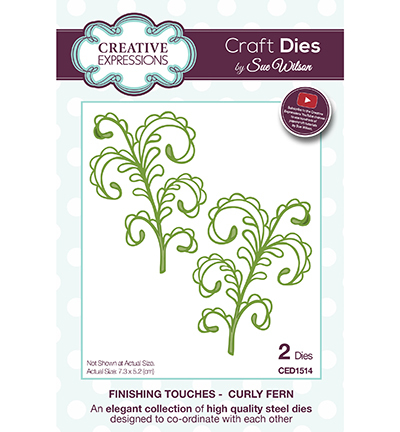 Creative Expressions - Die - The Finishing Touches Collection - Curly Fern - CED1514
